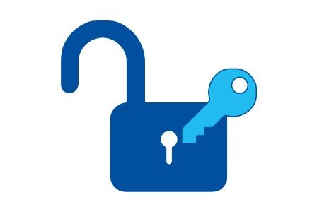 Symbol image: padlock and key