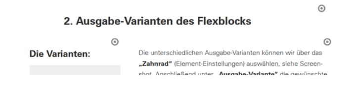 Überschrift steht in einem eigenen Flexblock in der Standard-Texbreite oberhalb von Ausreißer und Text. (c)