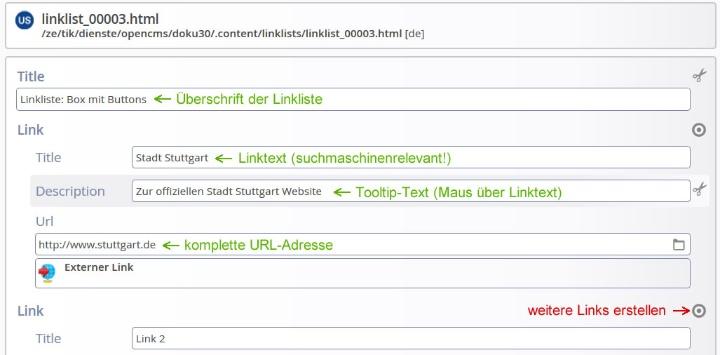 Seitenelement Linkliste (c)