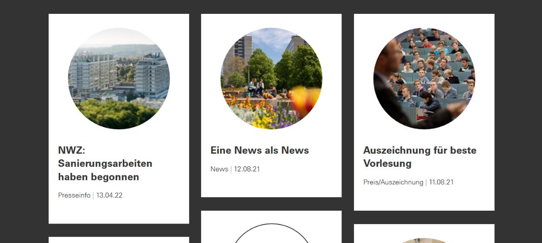 Im Newsstream steht dabei, ob eine News als News, Presseinfo oder Preis/Auszeichnung läuft.