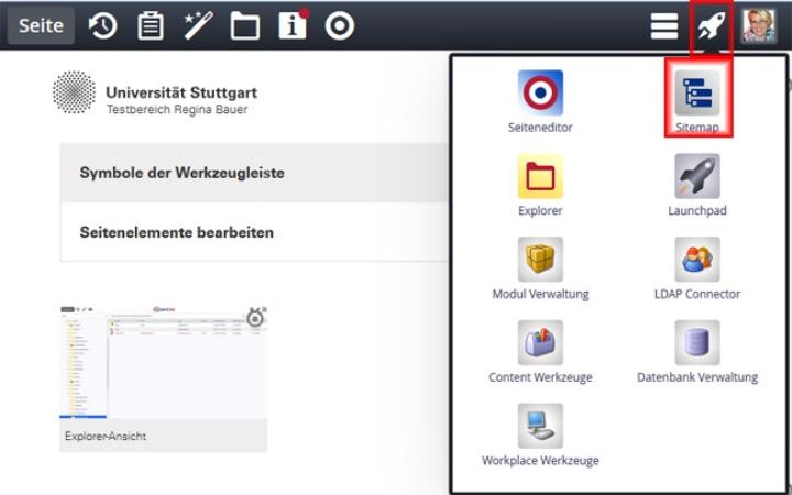 Sitemap-Editor aktivieren (c)
