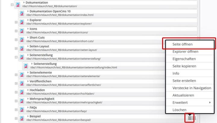 Seiteneditor öffnen (c)