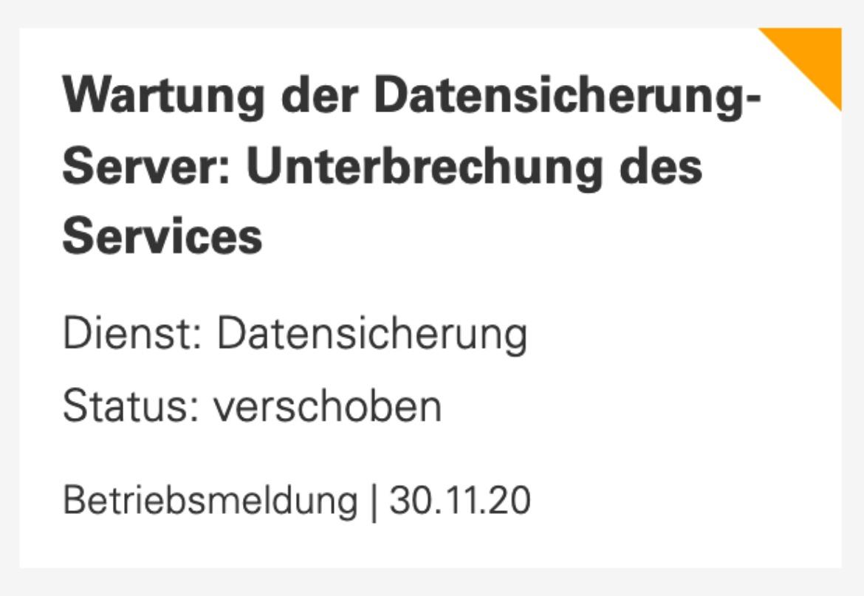 TIK-Betriebsmeldung