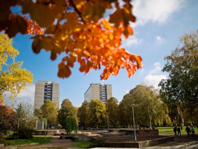Der Campus der Universität Stuttgart in der Stadtmitte